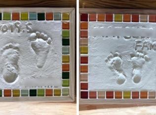 【満席御礼・11/6(水)開催】モザイクタイルと珪藻土で作る『足形』アート作品づくり