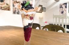小上がりのある高岡市のカフェ「KHEIR(ケイル)」から、秋を味わう「ぶどう」スイーツが登場♪
